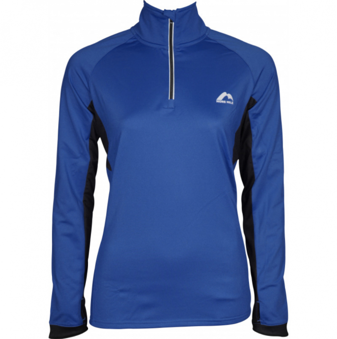 More Mile Vancouver 2 Womens Half Zip Thermal Running Top - Blue.jpg