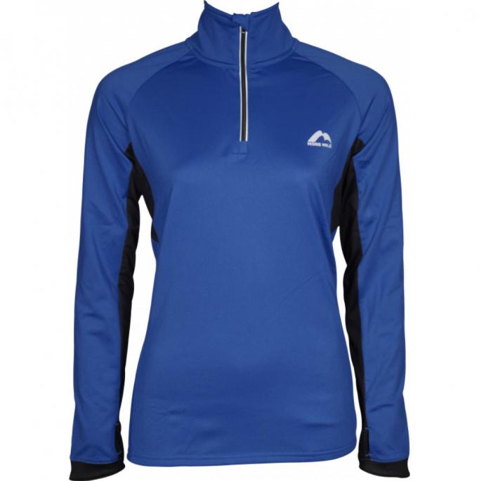 More Mile Vancouver 2 Womens Half Zip Thermal Running Top - Blue.jpg