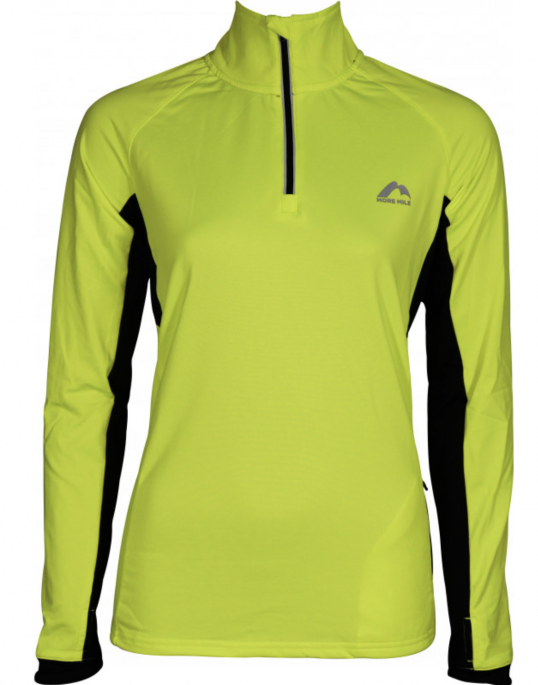 More Mile Vancouver 2 Womens Half Zip Thermal Running Top - Yellow .png