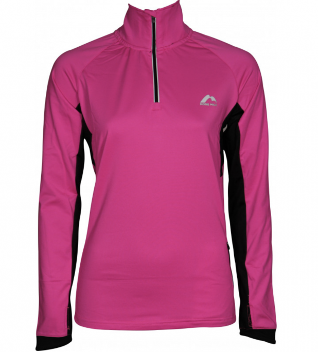 More Mile Vancouver 2 Womens Half Zip Thermal Running Top - Pink .png